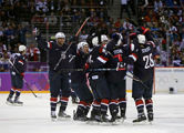 Американские хоккеисты выиграли у россиян в Сочи