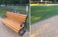 Солигорские власти демонтировали скамейку Независимого профсоюза горняков