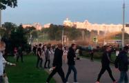 Лукашисты применили против протестующих водометы с окрашенной жидкостью