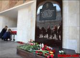 У входа на «Октябрьскую» открыли  памятный знак жертвам теракта (Фото)