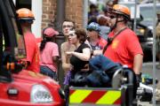 Автомобиль врезался в группу протестующих в Вирджинии