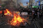 Фотофакт: Как чилийцы протестовали против повышения тарифов на метро