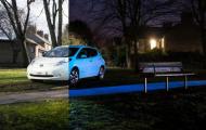 Японцы показали Nissan Leaf, светящийся в темноте