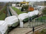 Поезд с ядерными отходами продолжил путь в Германию