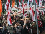 7 ноября в Минске прошли акции левых, нацболов и КХП БНФ