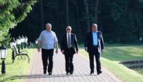 Лукашенко встретился с Путиным и Рахмоном в резиденции «Заславль»