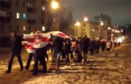 Грушевка вышла на марш в знак солидарности с пенсионерами