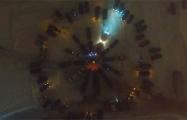 Видеофакт: Водители весело поздравили Могилев с Новым годом