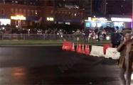 На Каменной Горке протестующие начали возводить баррикады