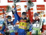 Белорусские биатлонисты заняли 8-е место в эстафете на этапе Кубка мира