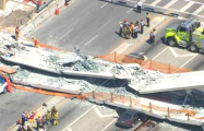 Видеофакт: В Майами обрушился 950-тонный пешеходный мост