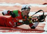 Дарья Домрачева заняла 3-е место в гонке с массовым стартом на этапе Кубка мира по биатлону в Антхольце