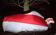 В Хатежино развернули огромный бело-красно-белый флаг