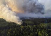 Пожар в Чернобыле: 6 гектаров в огне