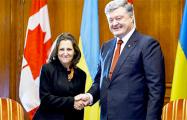 Порошенко обсудил с главой МИД Канады санкционное давление на РФ