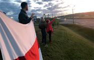 Белорусы протестуют на МКАД