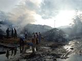 На жилые кварталы конголезского города упал самолет