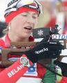 Дарья Домрачева завоевала серебро в гонке преследования на заключительном этапе Кубка мира по биатлону