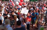 Более десяти тысяч жителей Гродно вышли на площадь