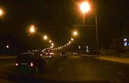 Видеофакт: В Минске наперерез водителю кто-то выехал из темноты