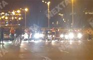 Протестующие перекрыли проспект около Стелы