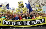 Миллион британцев вышел на шествие за второй референдум по Brexit