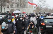 «Маяк Минска» на вечернем марше: Пошел вон! Ты, и твой ОМОН!