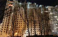 В строящемся на проспекте Дзержинского доме обвалились перекрытия на верхних этажах