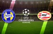 Лига чемпионов: БАТЭ уступает ПСВ после первого тайма