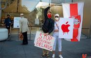Белорусы пикетировали главный магазин Apple в Сан-Франциско