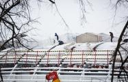 В Минске на крыше стадиона «Динамо» разбили палаточный городок