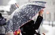 Фотофакт: На Мядельщине выпал снег
