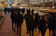 Еще одна колонна протестующих сформировалась на одной из минских улиц