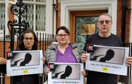 В Лондоне пикетировали посольство Беларуси