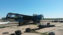 Фотофакт: последствия обстрела аэродрома в Краматорске