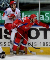 Хоккейная сборная Беларуси проиграла в Смоленске команде России в серии послематчевых буллитов