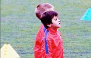 Сын Месси провел первую тренировку в «Барселоне»