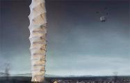 Три польских архитектора предложили концепт складного небоскреба-оригами
