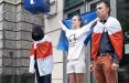 Белорусы Варшавы вышли на ежедневную акцию к зданию Еврокомиссии
