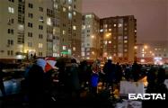ЖК «Маяк Минска» вышел на бело-красно-белый протест