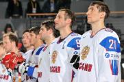 Андрей Костицын готовится к матчу со сборной Швейцарии на чемпионате мира по хоккею