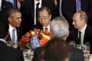 Владимир Путин и Барак Обама пожали руки