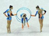 Белорусские юниорки выиграли золото в многоборье в групповых упражнениях на чемпионате Европы по художественной гимнастике в Минске