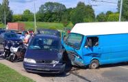 В Гродно произошла массовая авария