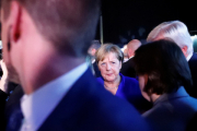 Меркель забросали помидорами на предвыборном митинге