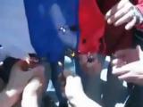 Сирийские оппозиционеры сожгли российский флаг