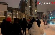В Минске на вечернее шествие вышли жители Лебяжьего