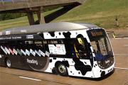 Британский автобус на коровьем навозе побил рекорд скорости