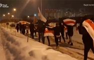 Жители Лебяжьего вышли на марш с национальными флагами