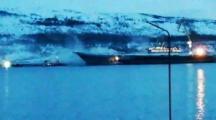В России загорелся авианосец «Адмирал Кузнецов»